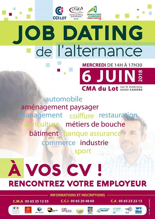Affiche de la Journée départementale de l'emploi.
