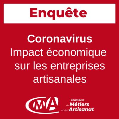 Coronavirus: artisans, répondez à l'enquête en ligne