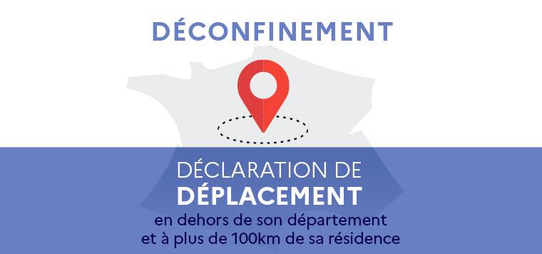 Déconfinement : Déclaration de déplacement