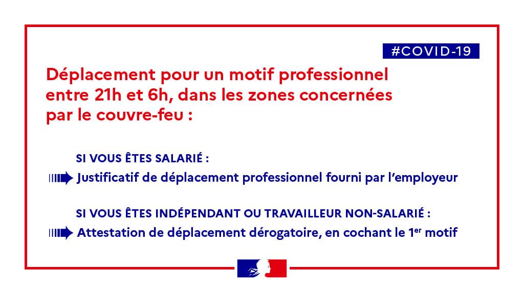 Attestations De Deplacement Motif Professionnel Couvre Feu Chambre De Metiers Et De L Artisanat Du Lot