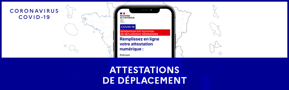 Attestations de déplacements