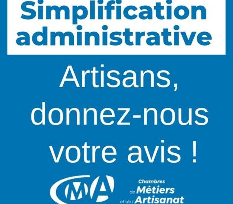 Simplification administrative : artisans, donnez-nous votre avis !