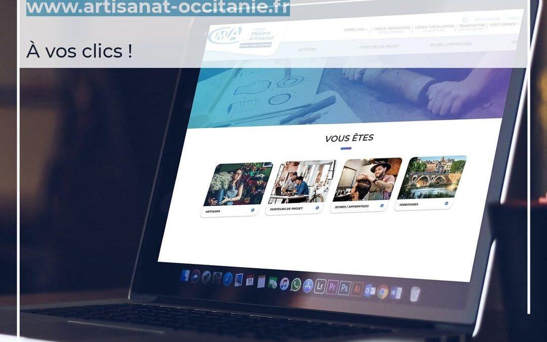 Nouveau site internet de la CMAR Occitanie